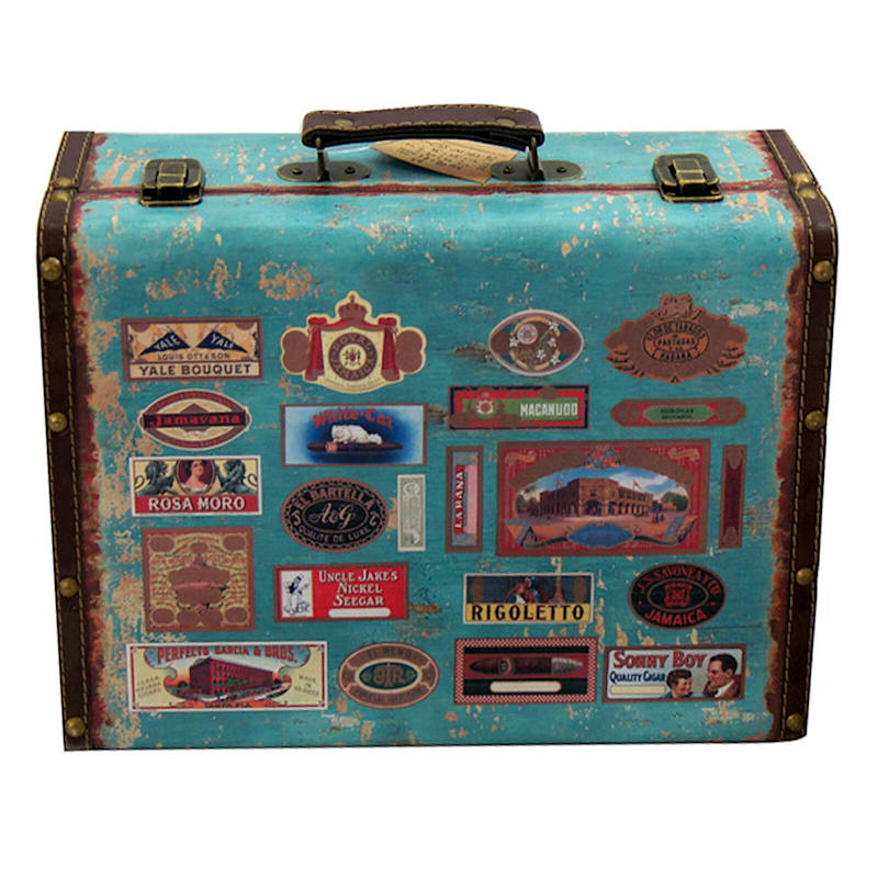 13.75X9.75 Wooden Suitcase