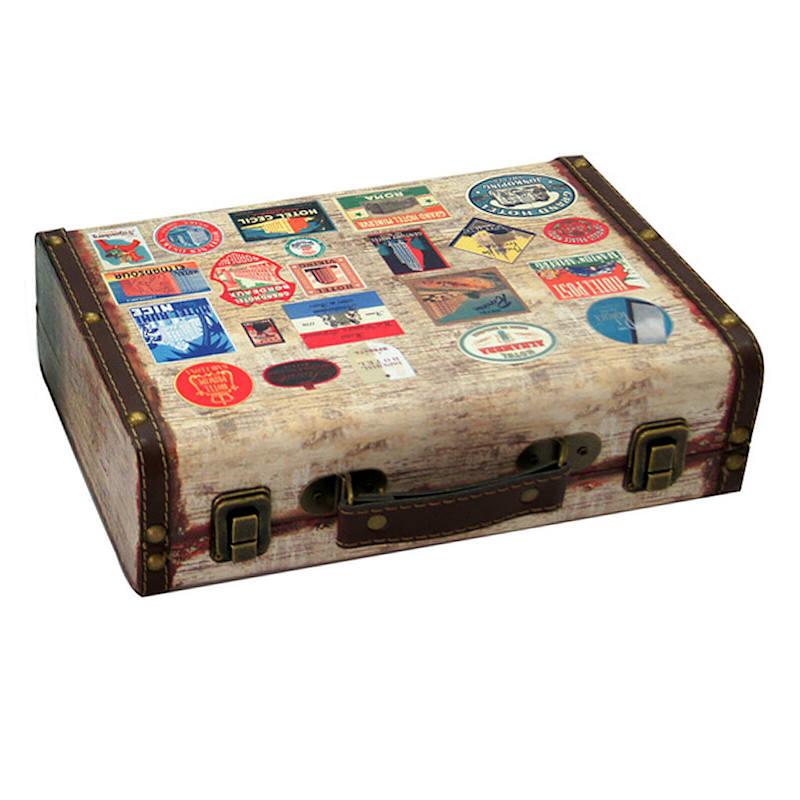 11.75X7.75 Wooden Suitcase