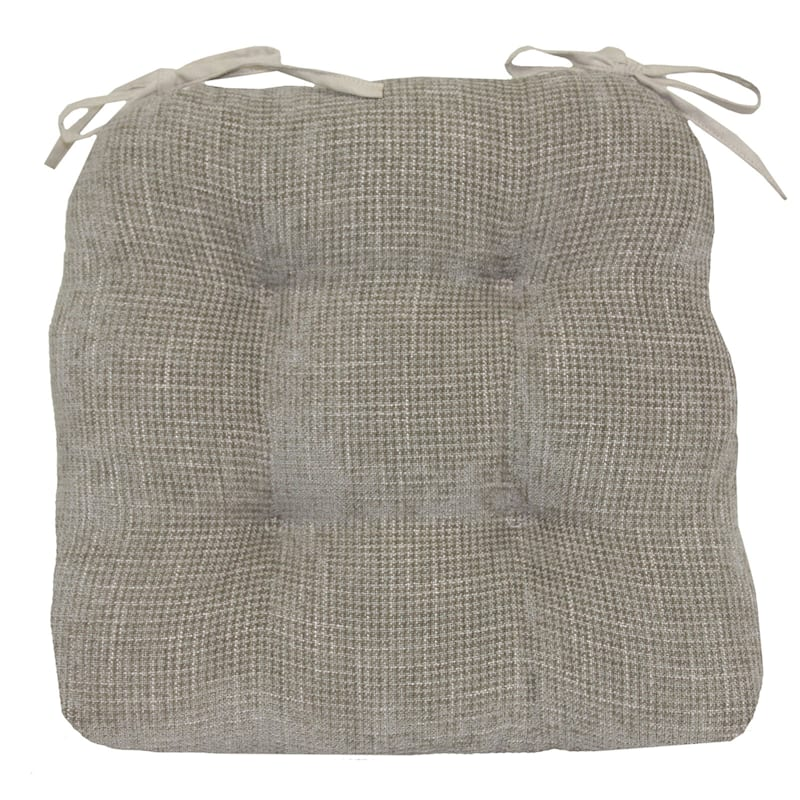 Jordan Textured Chair Pad/4 Tacks/Ties Neutral