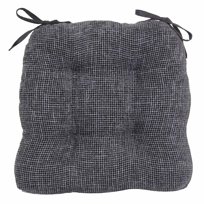 Jordan Textured Chair Pad/4 Tacks/Ties Black