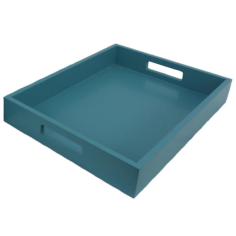 16X12 Aqua Wood Tray