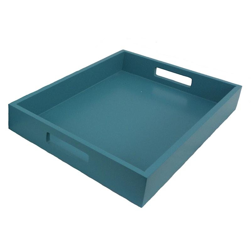 14X10 Aqua Wood Tray