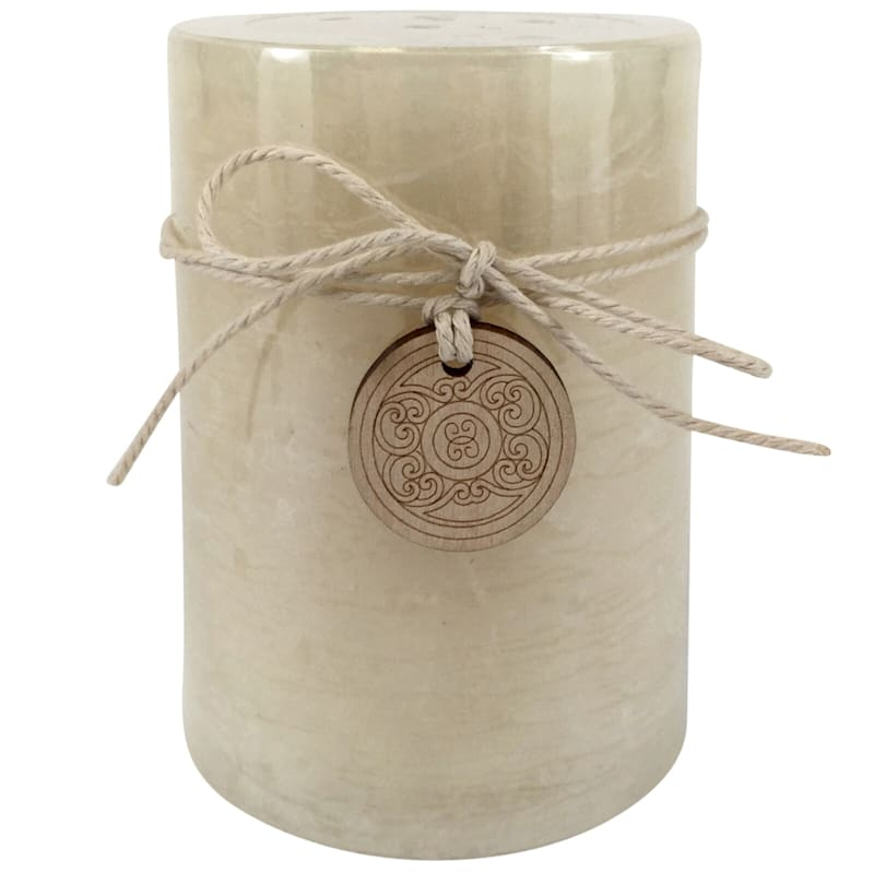 Unscented Ivory Pillar Candle - 3x4