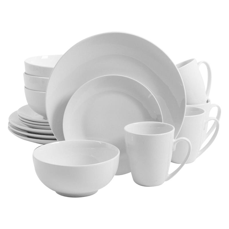 Ogalla 16-Piece Dinnerware Set White Fine Ceramic