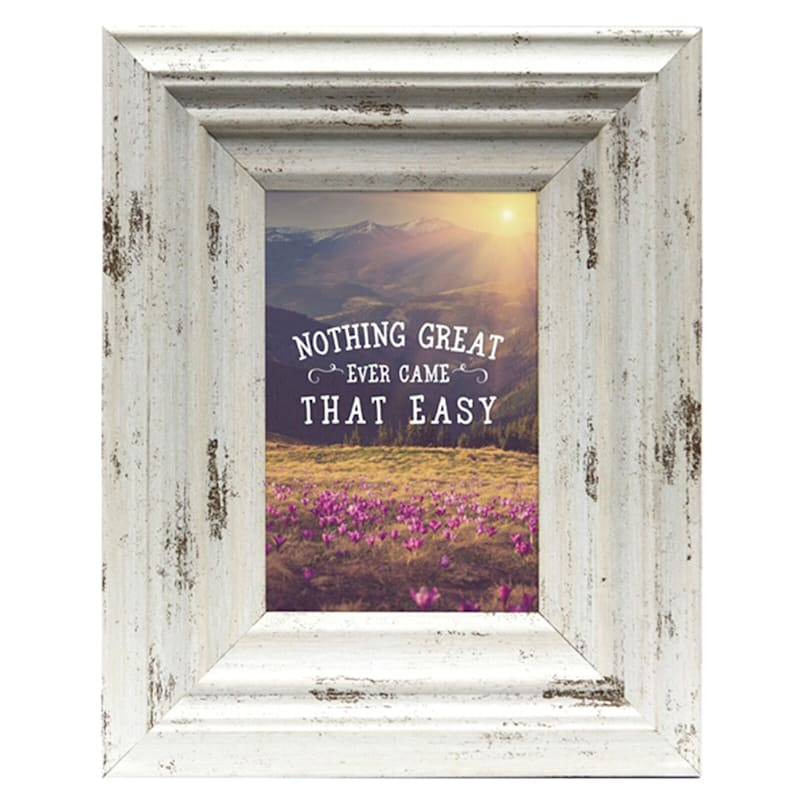 8X10 Miranda Distressed Cream Tabletop Frame