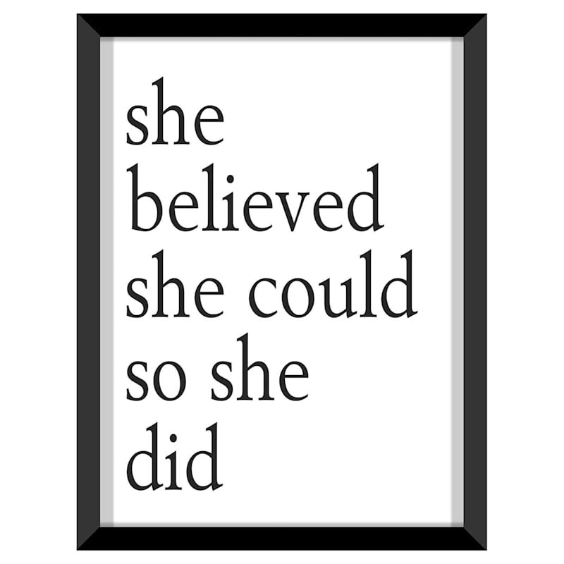 12X16 She Believed Art Framed/Glass