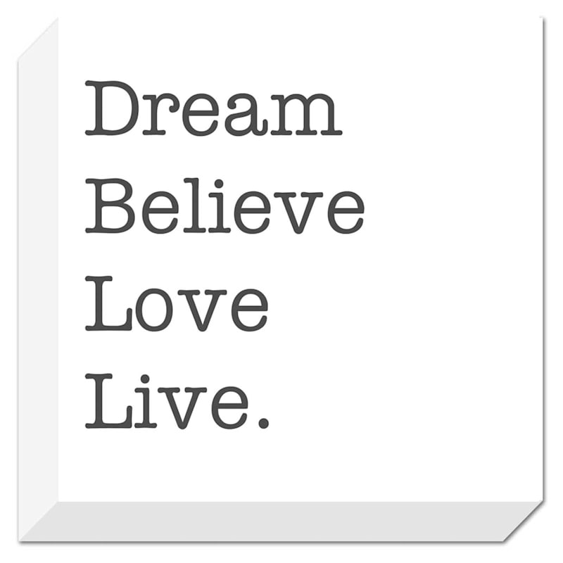 14X14 Dream Believe Live Love Textured Canvas