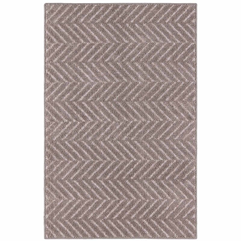 Twillville Chevron Grey Rug, 2x4