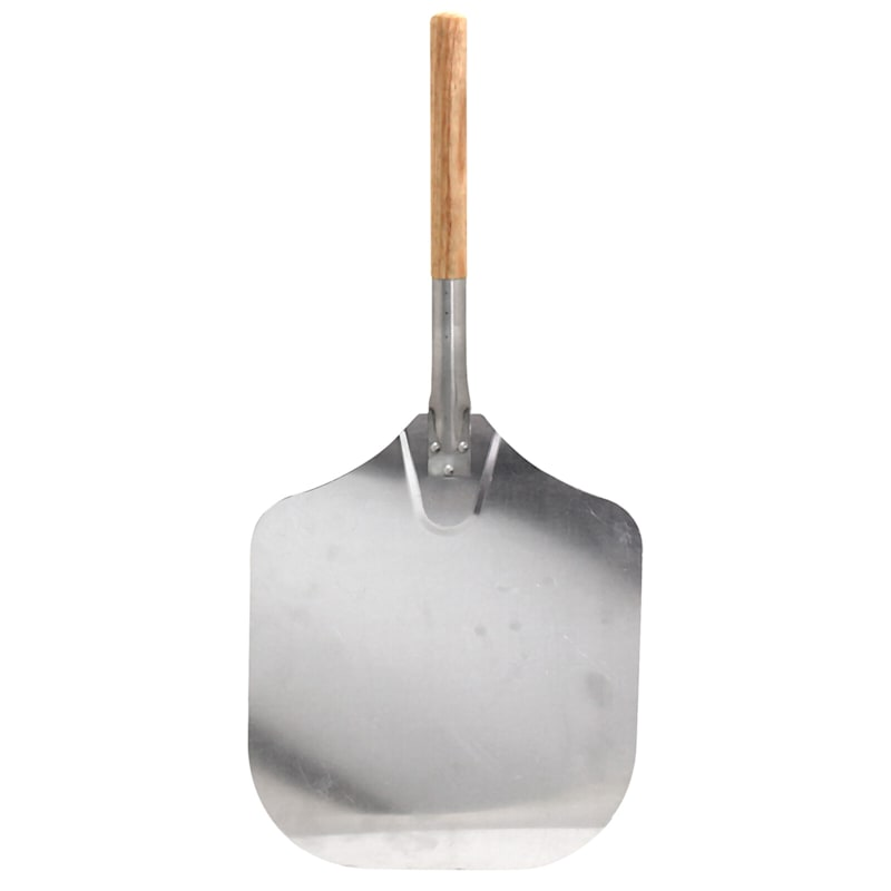 Aluminum Pizza Peel W/Wooden Handles Great For Grilling/Kitchen Pizzas