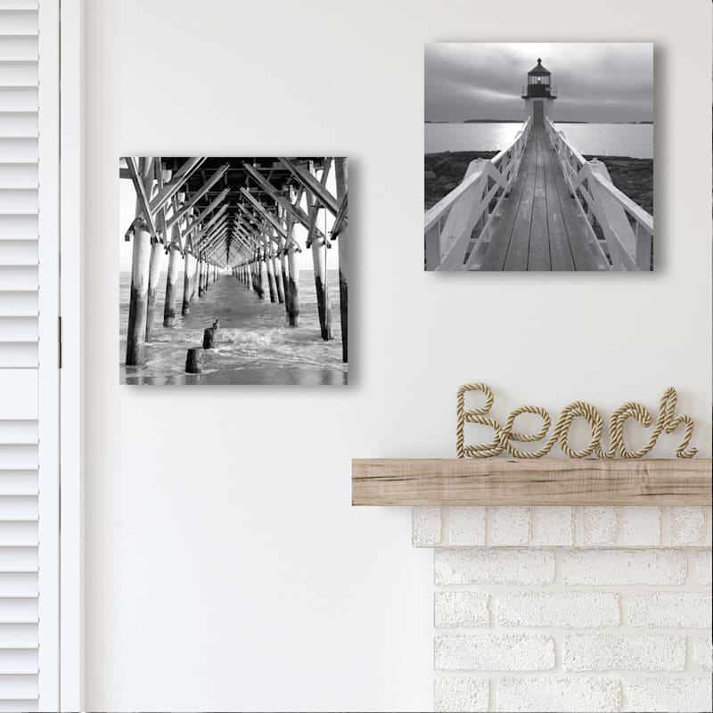 12X12 By The Dock Canvas Art