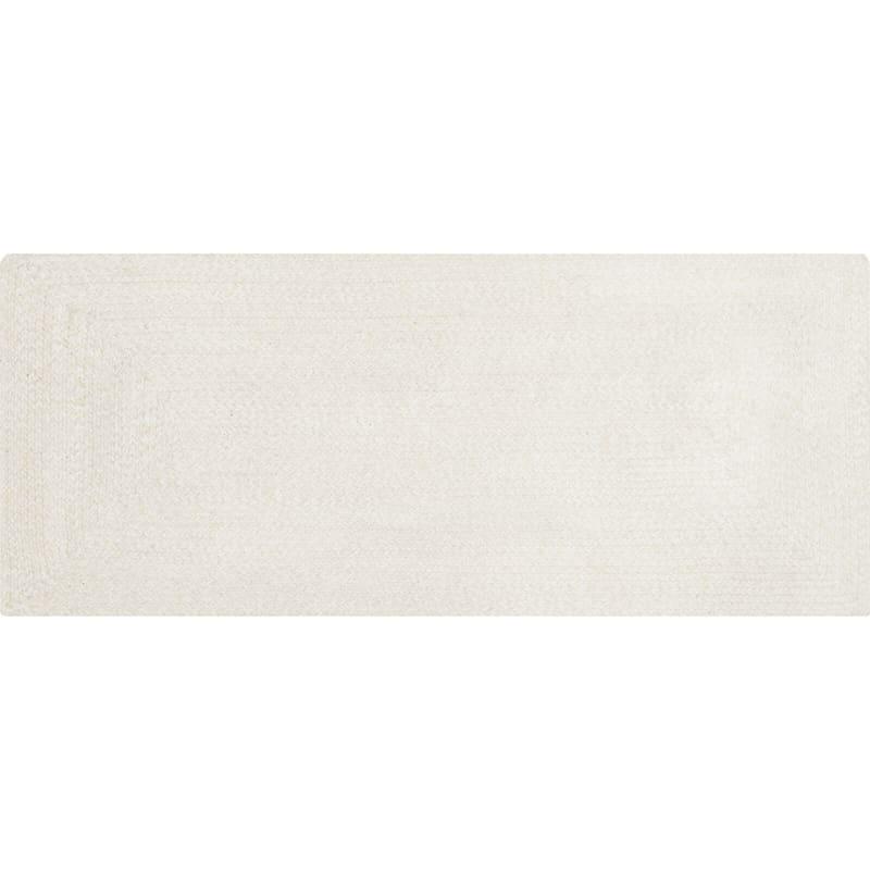 (D350) Mario Cream Cotton Braid Runner, 2x5