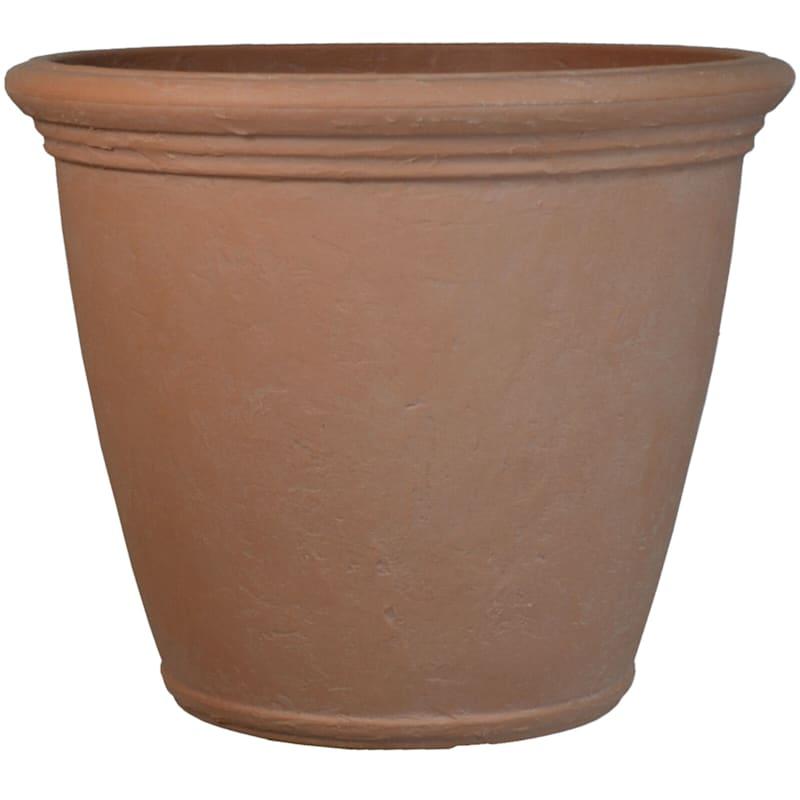 Kiri 24in. Decorative Planter Natural Clay