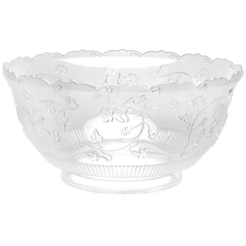 Clear 8 Quart Plastic Punch Bowl Hanna K. Signature