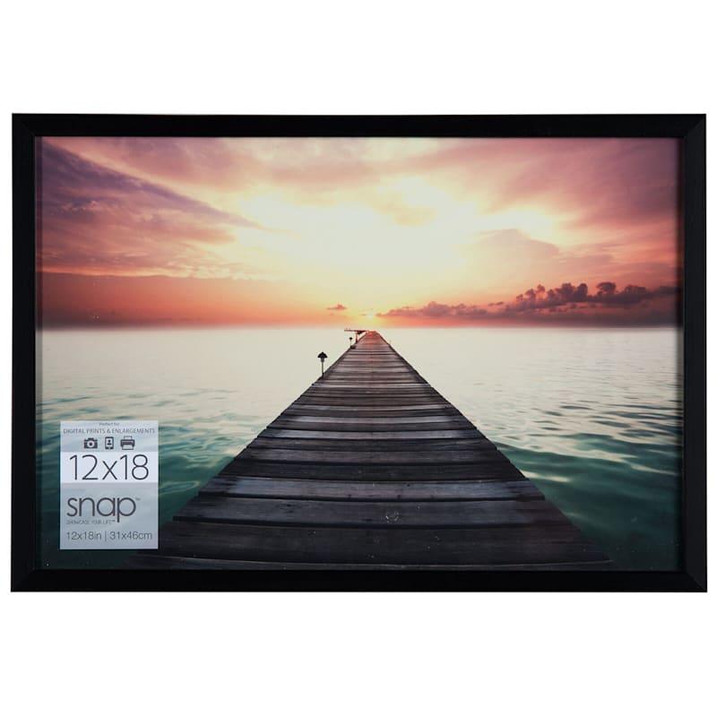 12X18 Black Linear Photo Frame