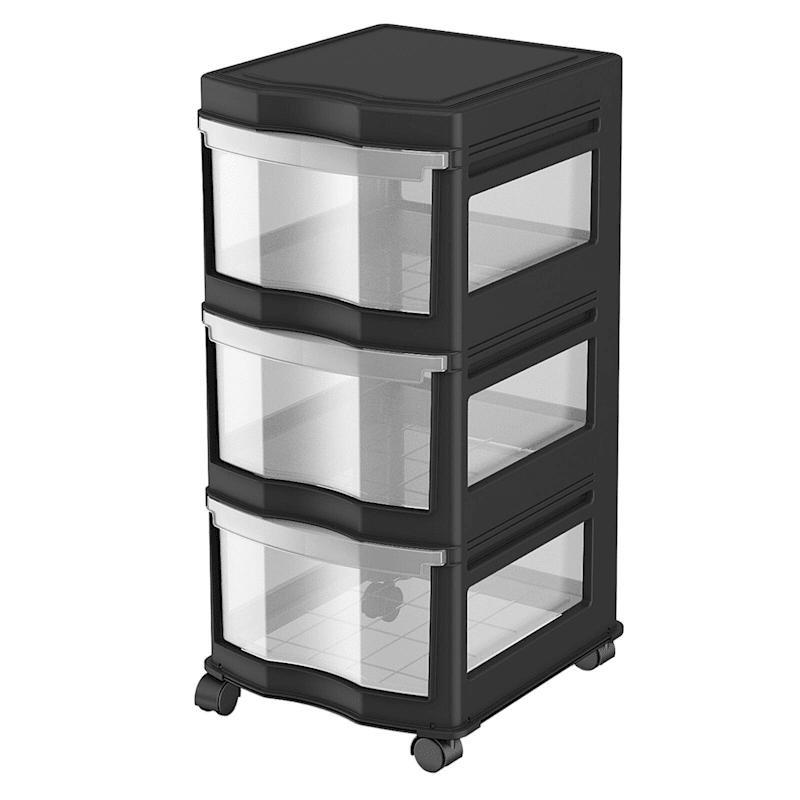 3 Drawer Cart Black