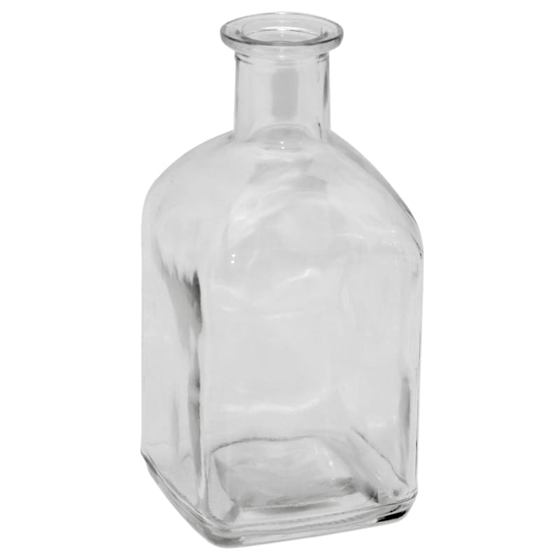 3X5 Clear Square Glass Bud Vase