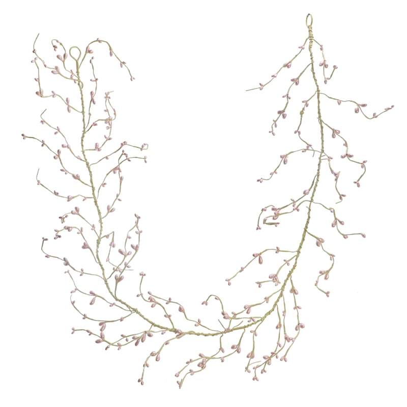 60-in Bead Coiled Garland Pink