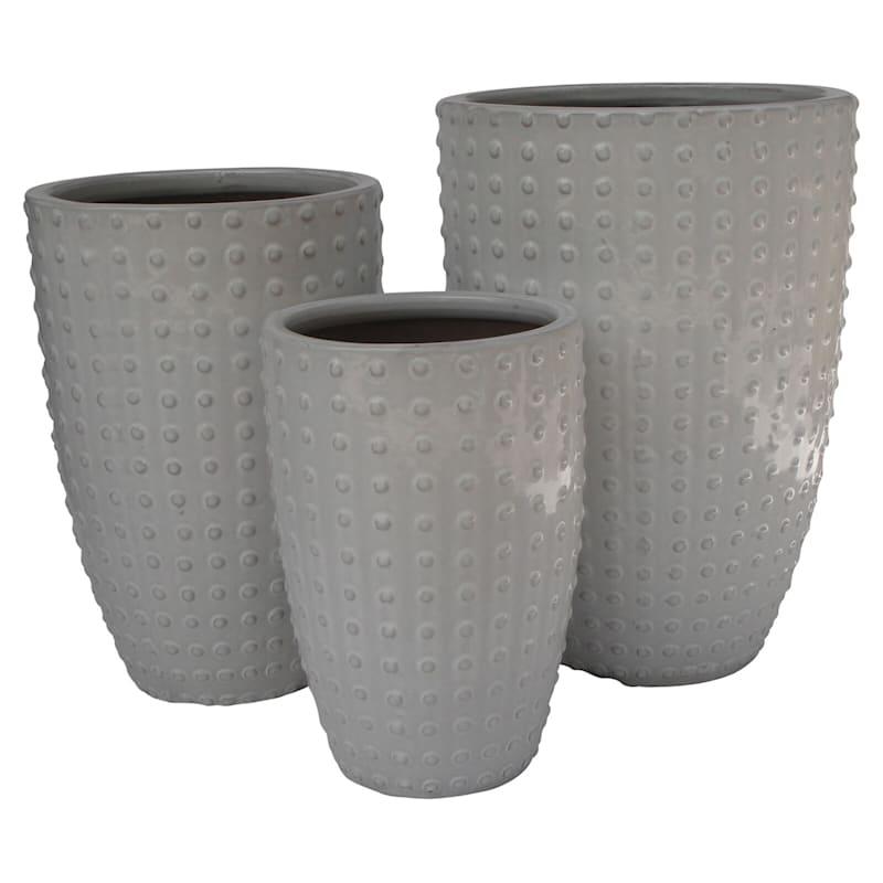 Button Ceramic Planter 16.9in. White