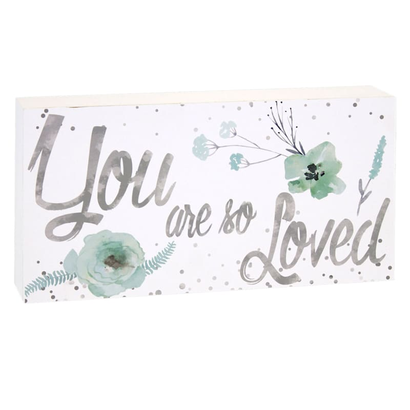 10X5 You Are Loved Block Wall Art