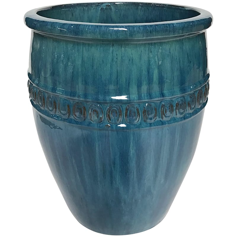 Tyler Tall 12in. Forest Green Outdoor Ceramic Planter