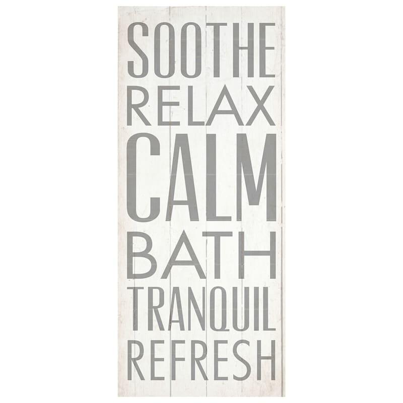 12X30 Sooth Relax Bath Canvas Wall Art