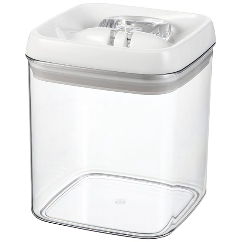 Flip Tite Large Stackable Airtight Bpa Free Acrylic Square Canister