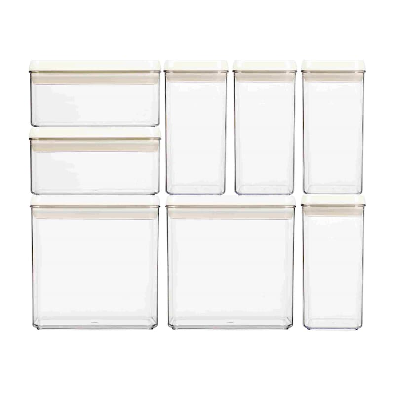 Flip Tite 8-Piece Stackable Airtight Bpa Free Acrylic Canister Set
