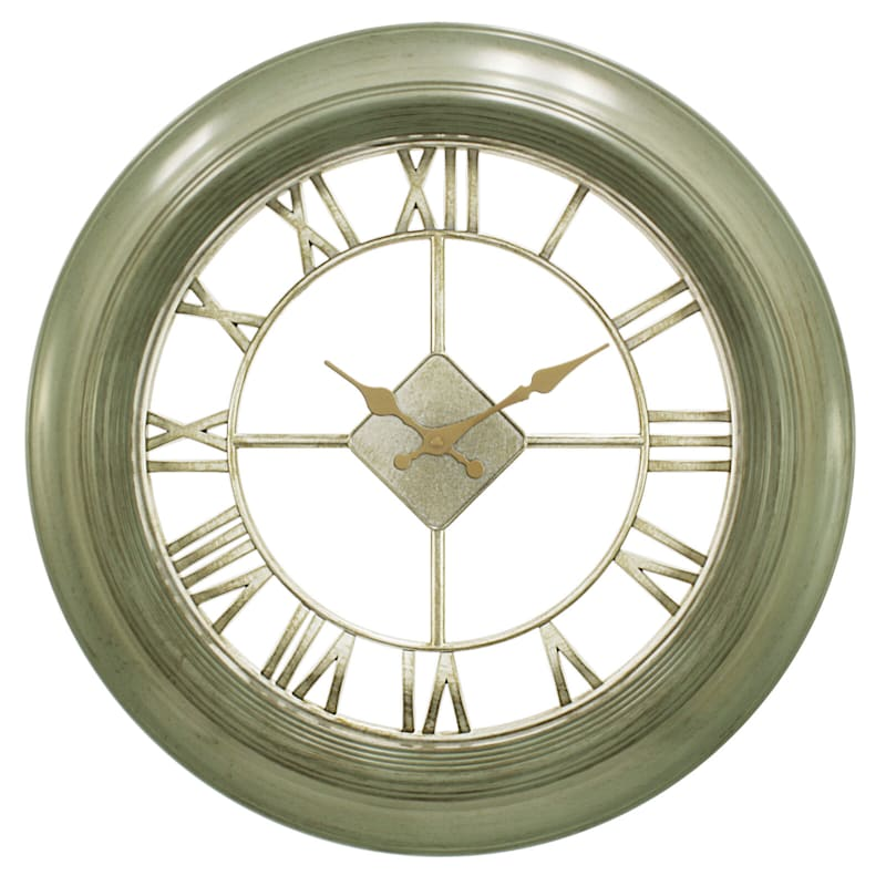 20in. Sage Diamond Wall Clock With Clear Dial