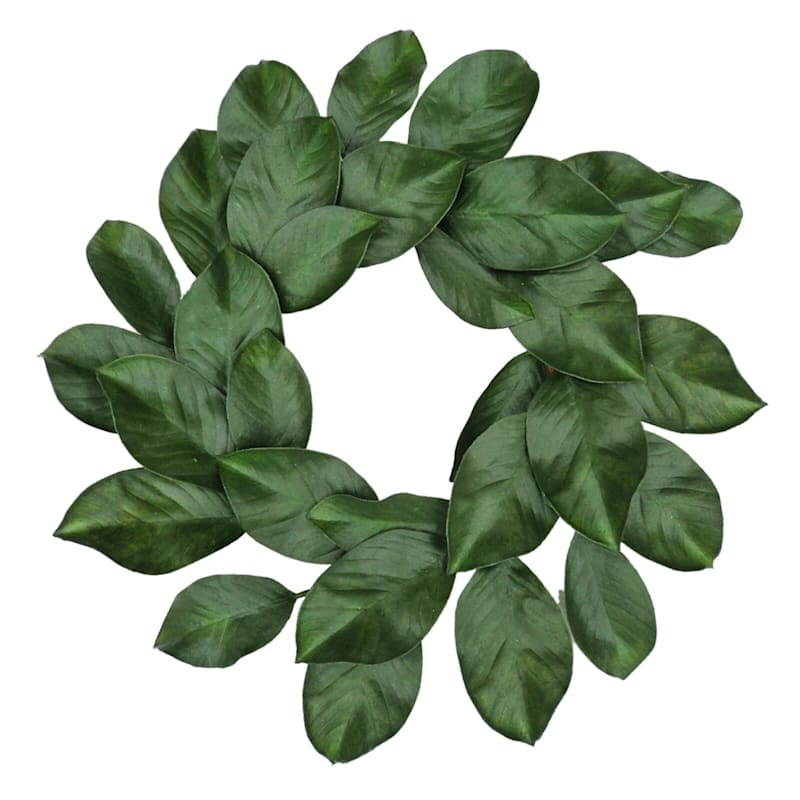 24in. Magnolia Leaf Wreath