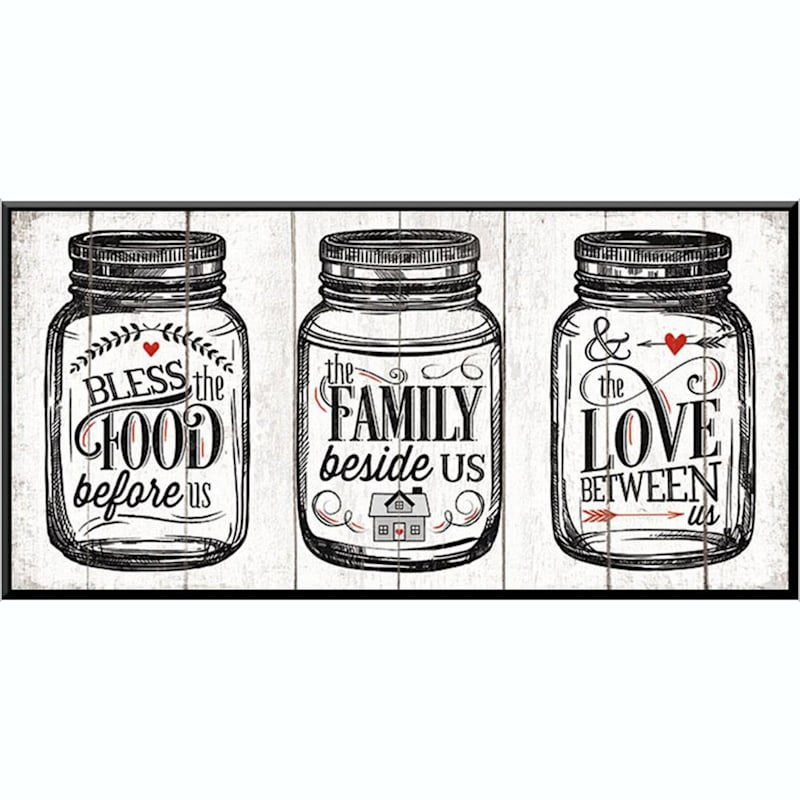 15X8 Food Family Love Art Printed On Glass