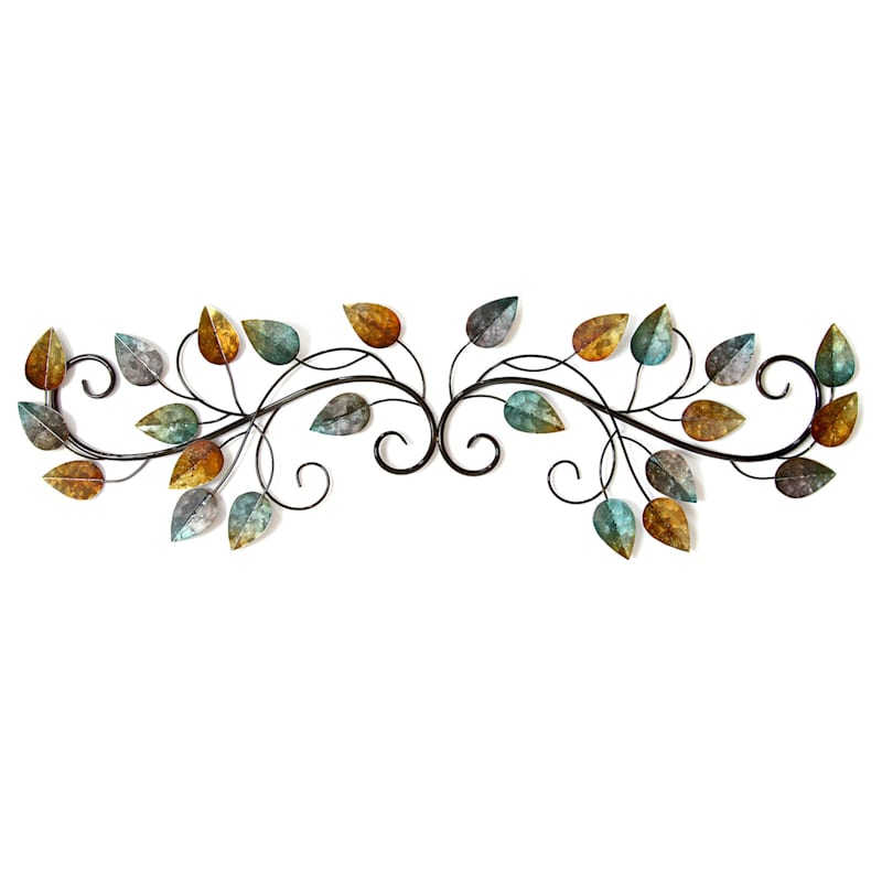 40X11 Multi Color Leaf Over The Door Wall Decor