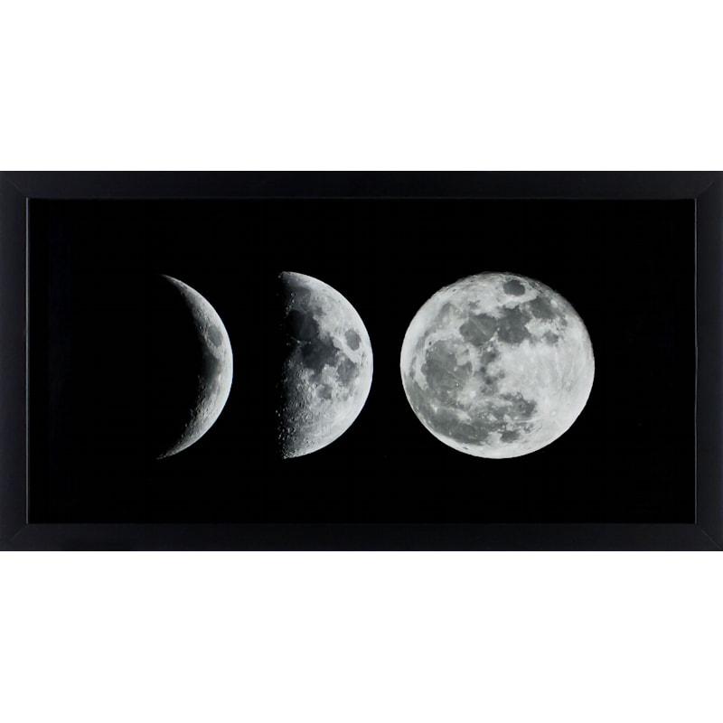12X24 Moon Phases Art Framed/Glass