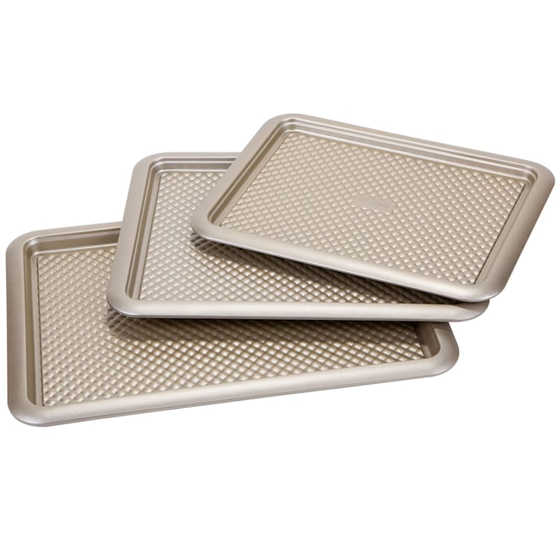 S/3 NON STICK COOKIE SHEET