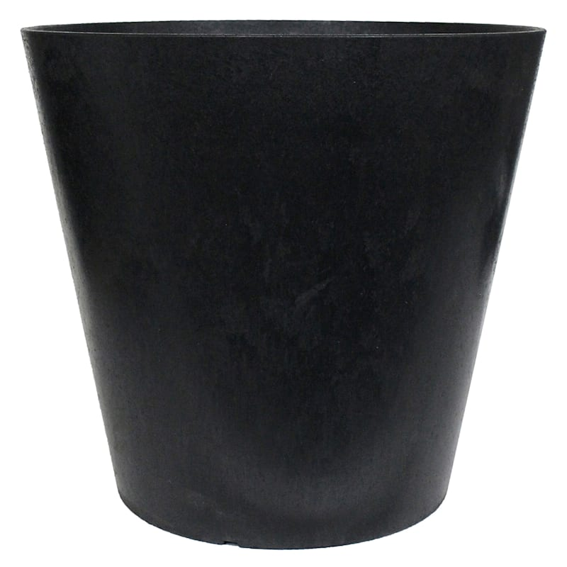 Octavia Slate Recycled Rubber Planter 16X9X15