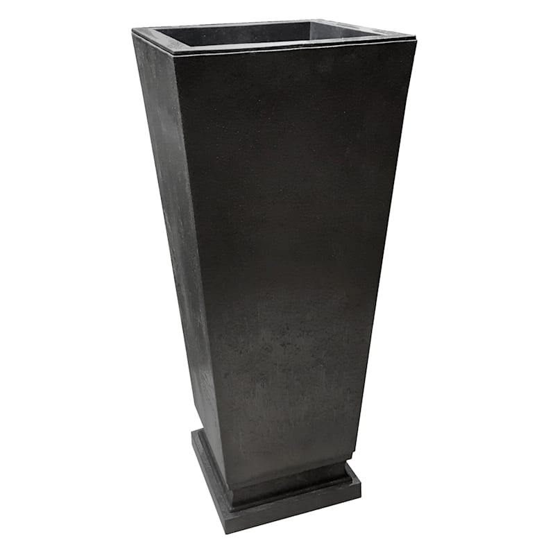 Empire Slate Recycled Rubber Planter 14X22X32