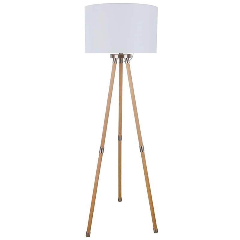 63in. Brown Wood Floor Lamp