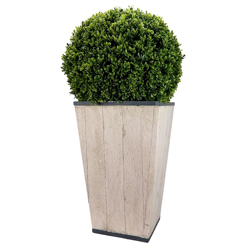 Topiary Ball Grey Fake Potted Plant