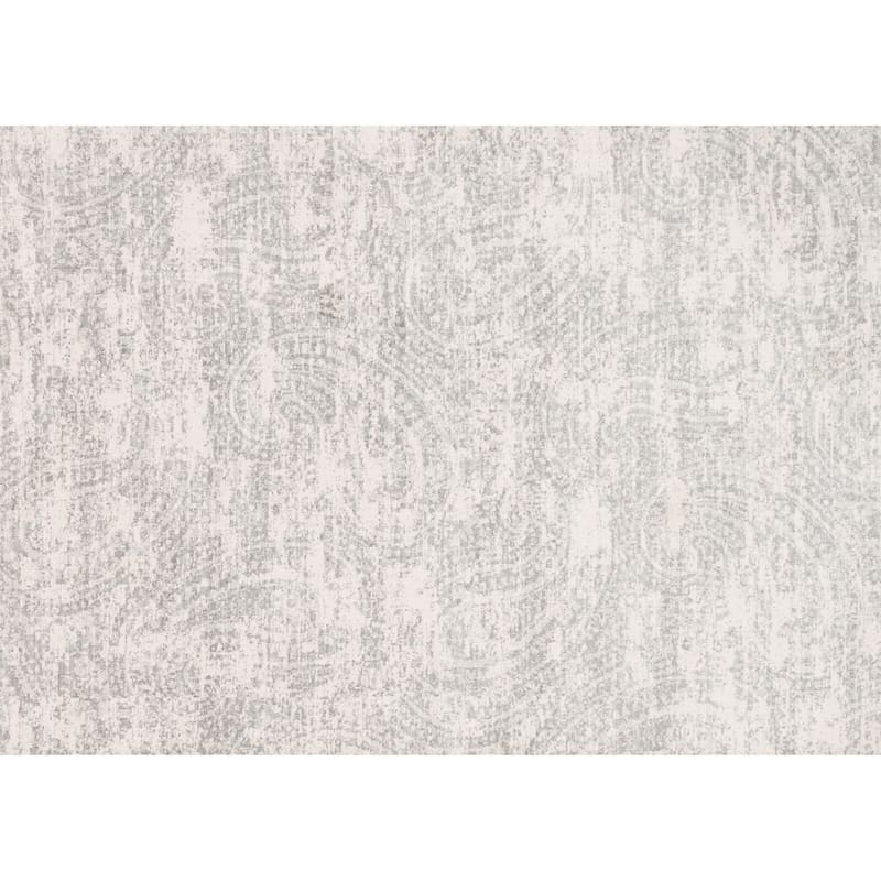 (A252) Willow All Over Grey Microfiber Area Rug, 3x5