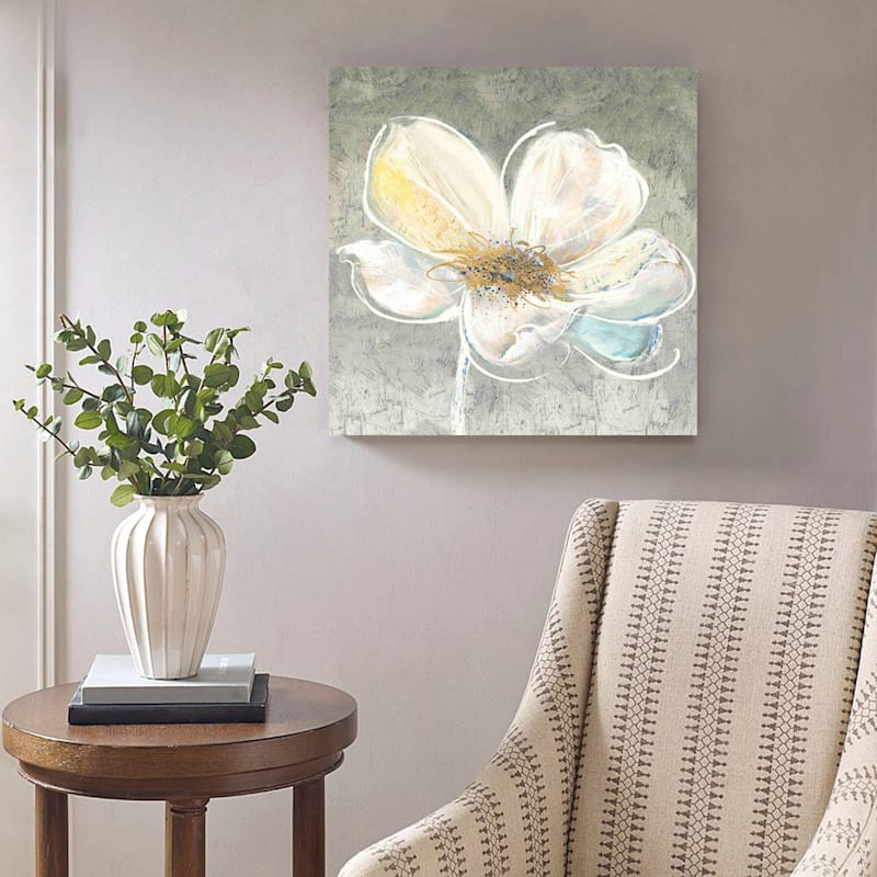 24X24 Essence Embellished Canvas Art