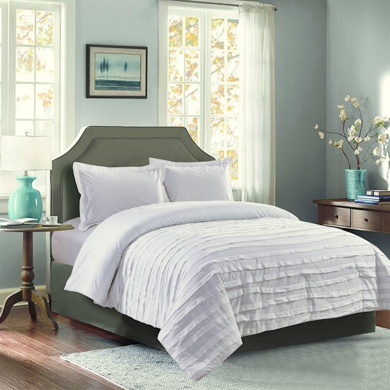 Avery White Ruffle 2-Piece Comforter Twin