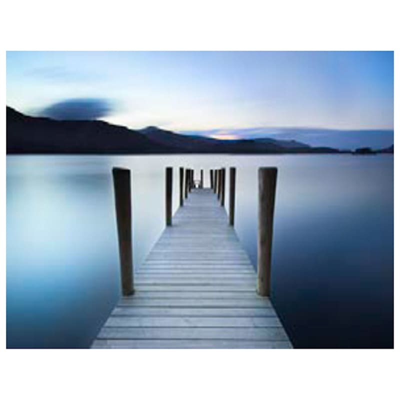 36X24 Into The Blue Pier Photography Canvas Art