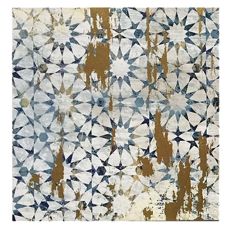 3-Piece 14X14 Medina Tile Foiled Canvas Art Set
