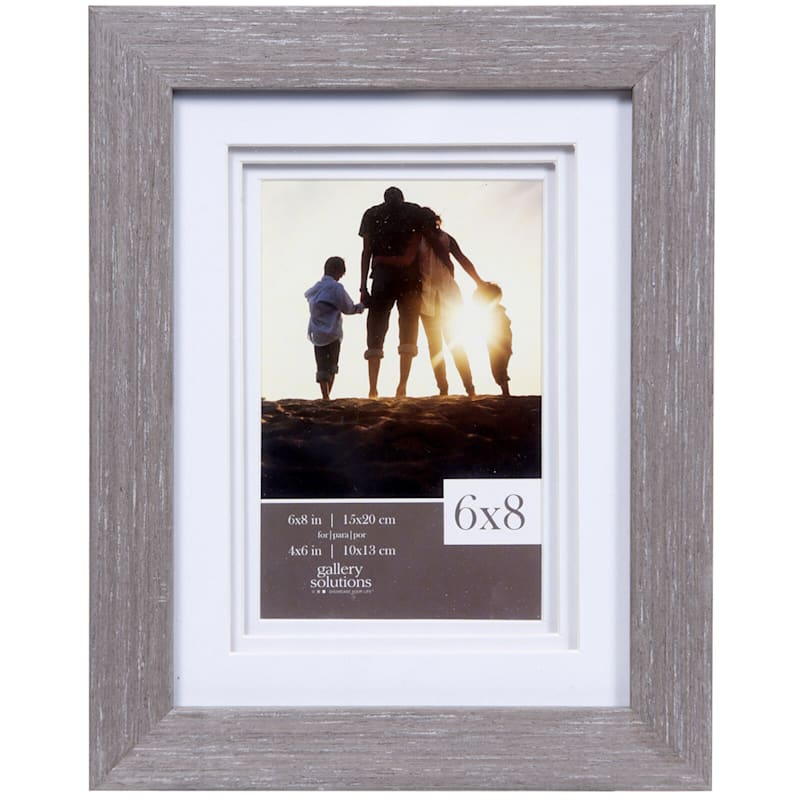 6X8 Matted To 4X6 White Triple Mat Portrait Photo Frame