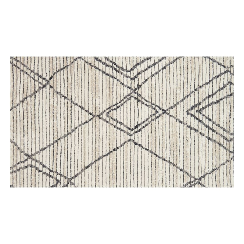 (A359) Willow Floral Ivory Multi Area Rug, 2x4