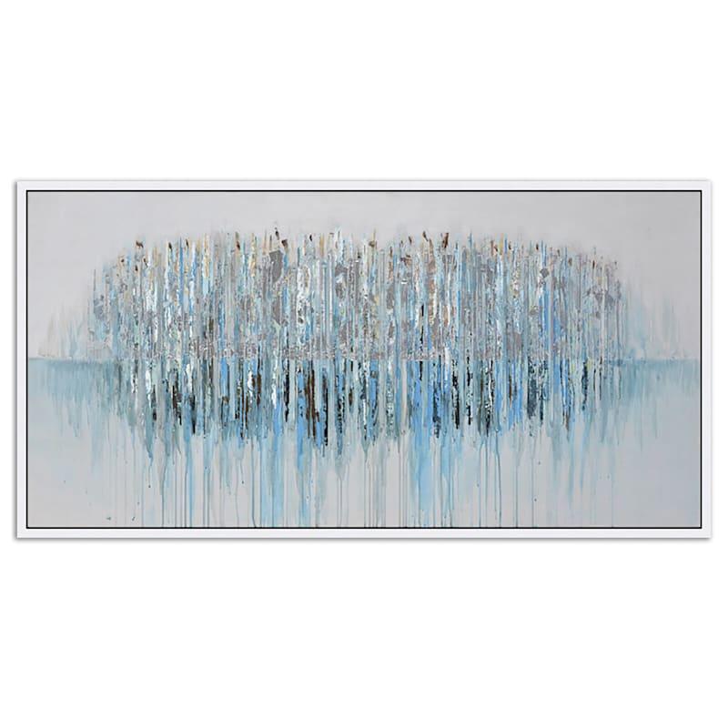 28X56 Row Of Trees Framed Enhanced Canvas