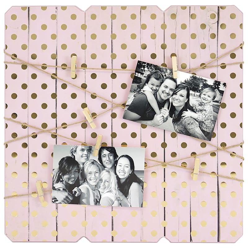 16X16 Pink Wood Collage Photo Holder