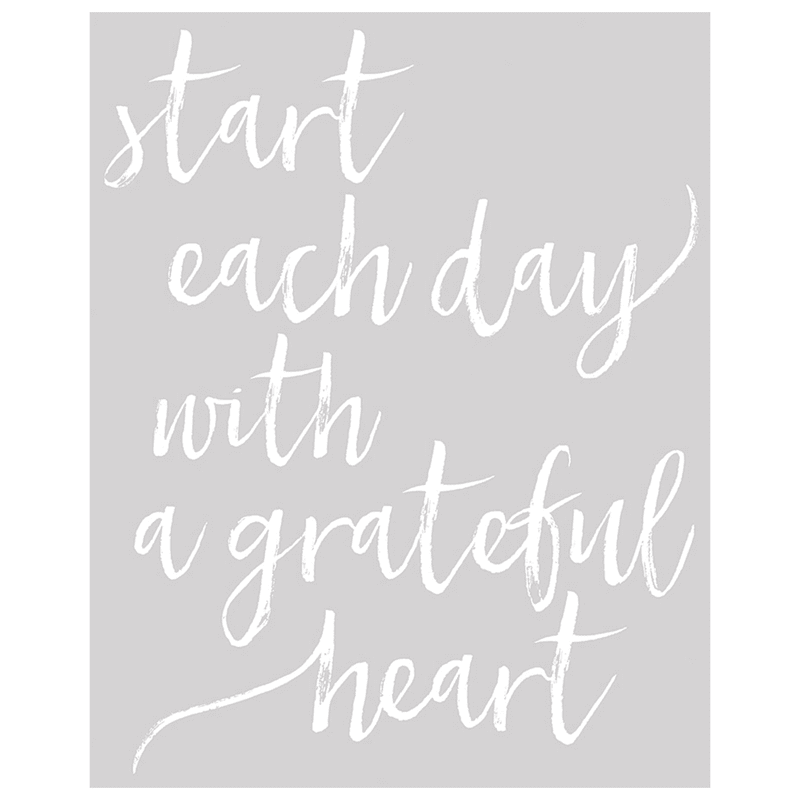 16X20 Start Each Day With A Grateful Heart Canvas