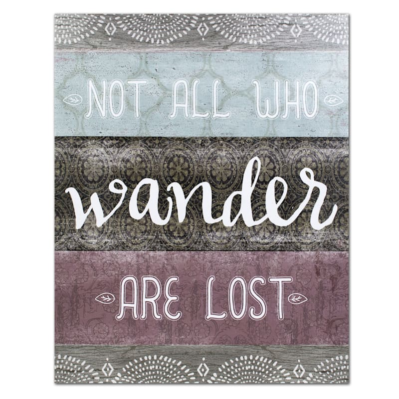 20X16 Boho Not All Who Wander Are Lost Canvas Wall Art