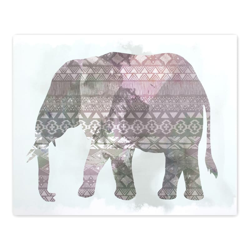 20X16 Boho Ornate Elephant Canvas Wall Art