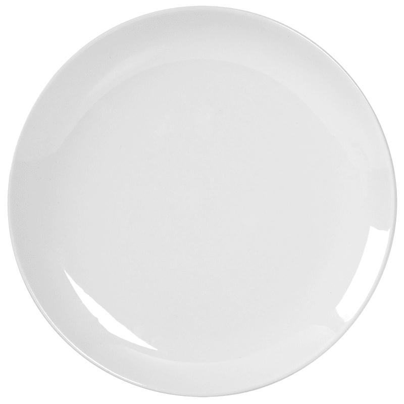 Blanc De Blanc Round Coupe Dinner Plate